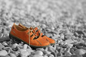 上一个真皮沙滩凉鞋 — 图库照片