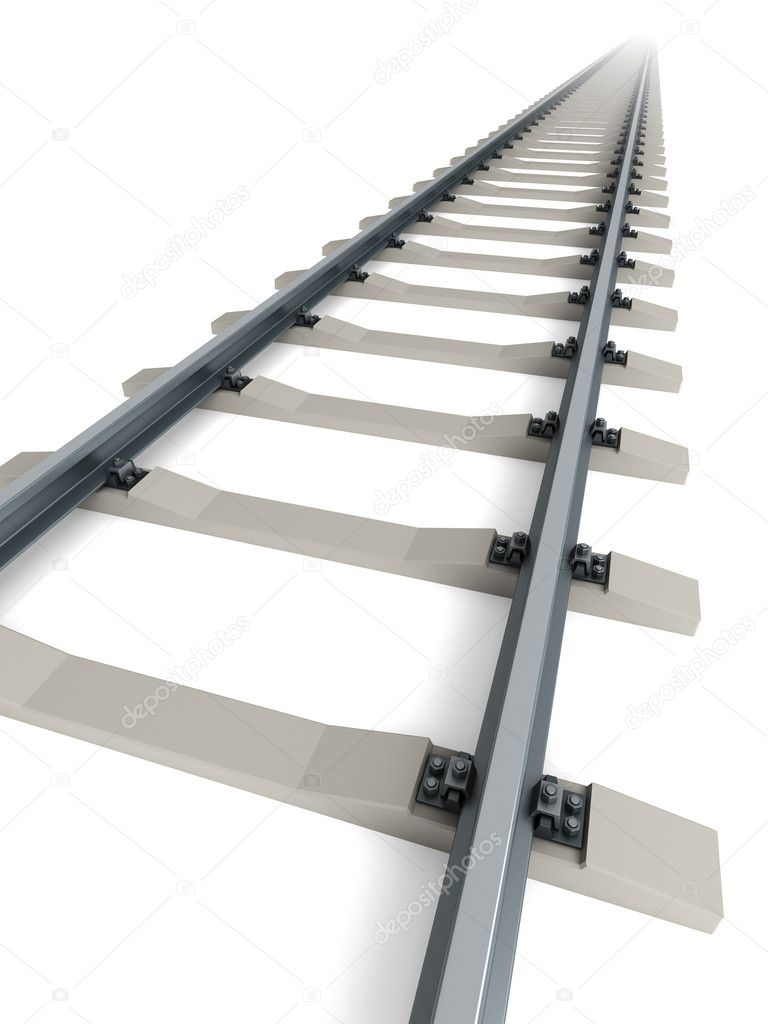 Isolated railway. 3d rendering — Stock Photo #2445631