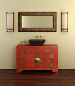 Chinese style bathroom interior — Stockfoto
