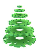 3d symbolic New Year's fir tree — 图库照片