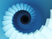 3d spiral staircase — Stock Photo