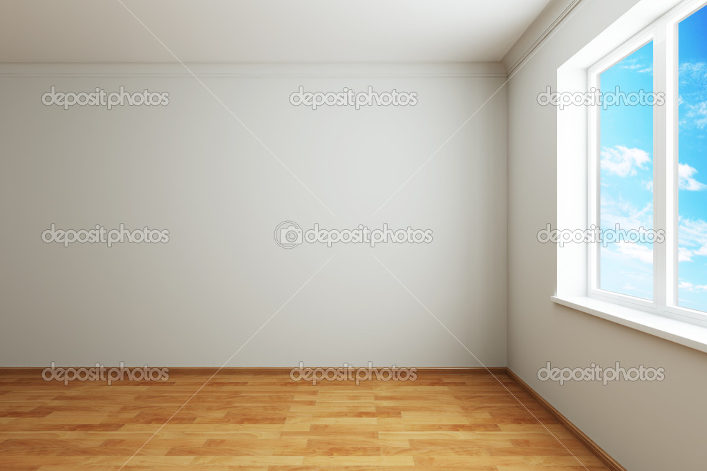 3d rendering the empty room with window — Foto de Stock   #2466474