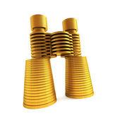 Symbolic money's binoculars — Stock Photo