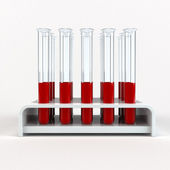 Medical test-tube with blood samples — Photo