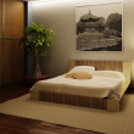 Japan style bedroom interior — Stock Photo #2571795