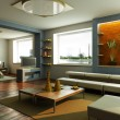 Modern lounge room interior - Stock Photo