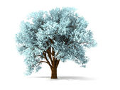3d wintry tree — Stock Photo