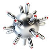 противолодочная авиационная бомба 3d-рендеринга — Стоковое фото