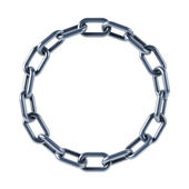 Chain links united in ring — Stock Photo
