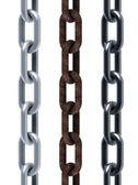 Izolované bezešvé sada řetězů — Stock fotografie