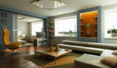 Modern lounge room interior — Stock Photo