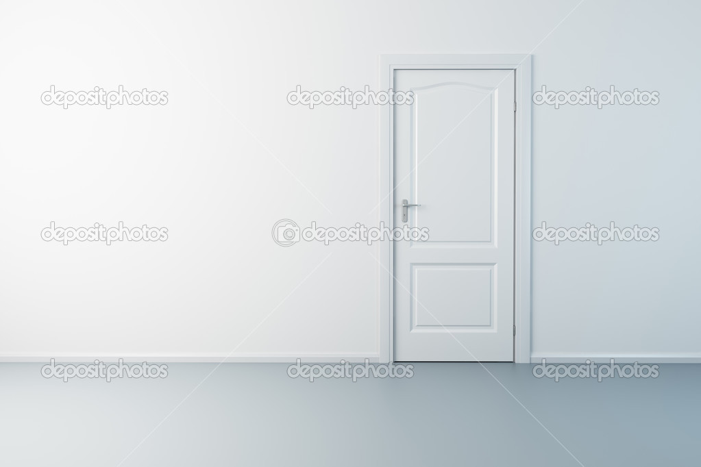 3d rendering the empty room with door — Stockfoto #2570664