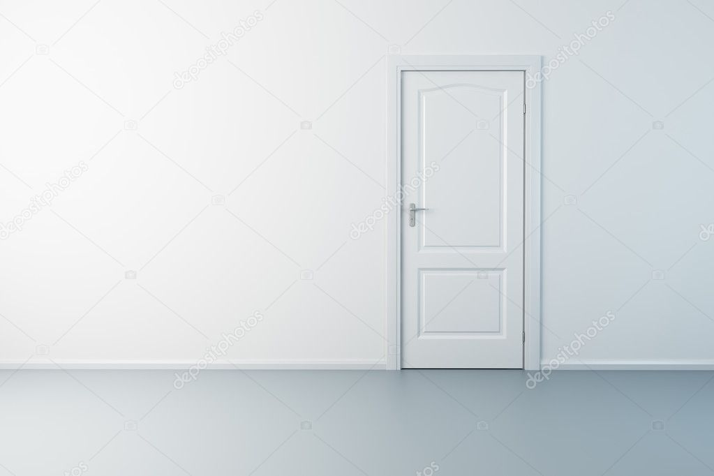 3d rendering the empty room with door  Foto Stock #2570664