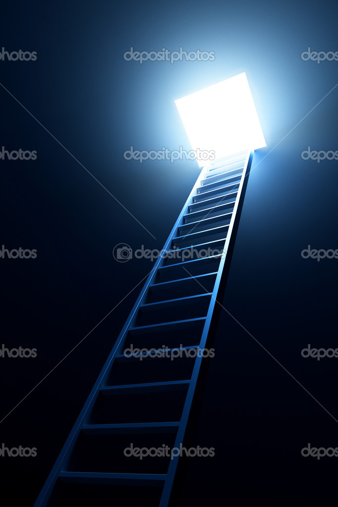 3d ladder leading to out — Stock Photo #2571612