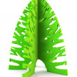 Stock Photo: 3d symbolic New Year's fir tree