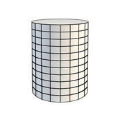 Faceted white 3d cylinder — Stock Photo