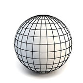 Faceted white 3d sphere — Stock Photo