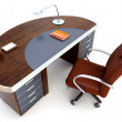 Director's office 3d rendering — Stock Photo
