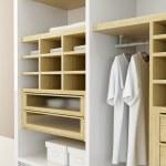Inside the modern closet 3d rendering — Stock Photo
