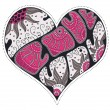 Cute valentine heart — Vecteur #1583717