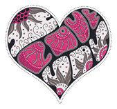 Serce valentine ładny — Wektor stockowy