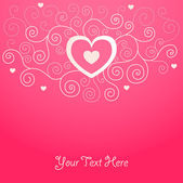 Cute valentine background — Vector de stock
