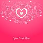 Roztomilé valentine pozadí — Stock vektor