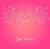 Cute valentine background — Stockvector
