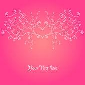 Cute valentine background — Stock Vector