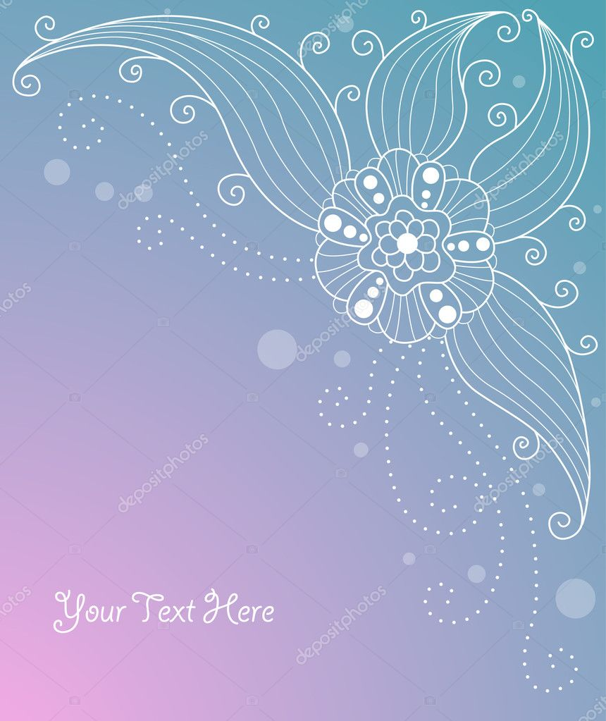 Cute floral background for your design — Stock Vector #1583444