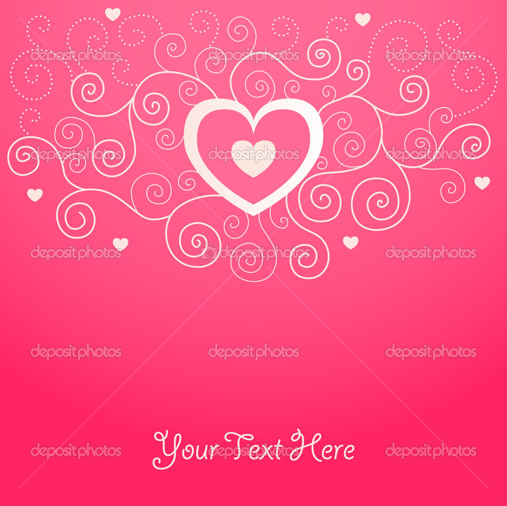 Cute valentine background for your design — ベクター素材ストック #1583769