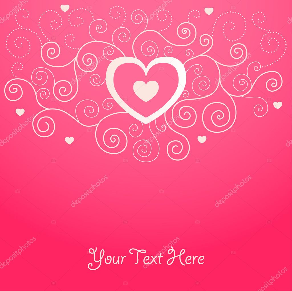 Cute valentine background for your design — Imagen vectorial #1583769