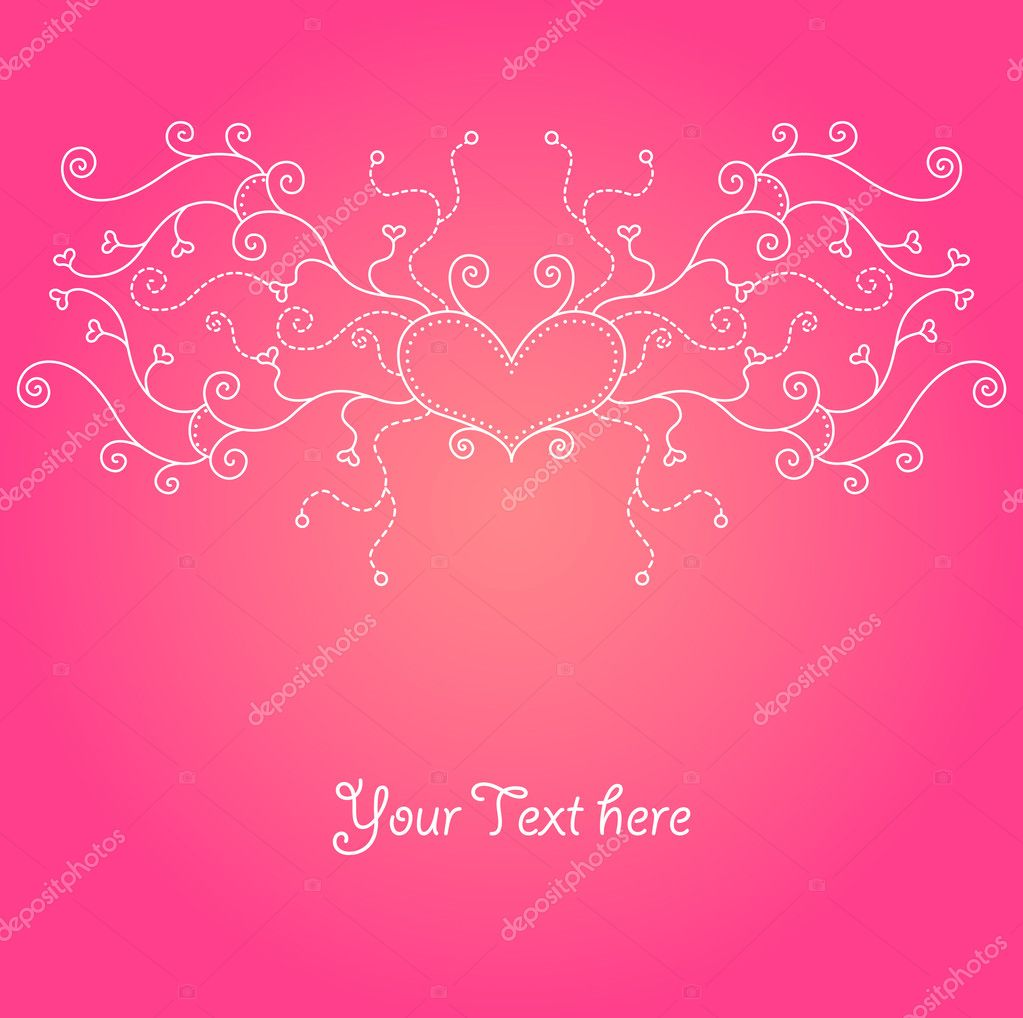Cute valentine background for your design  Stock Vector #1583785