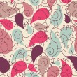Cute paisley seamless background - Stock Photo