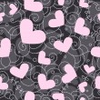 Stock Photo: Cute valentine seamless background