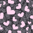 Cute valentine seamless background - Stockfoto