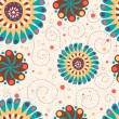Cute floral seamless background — Photo