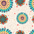 Cute floral seamless background — Stockfoto