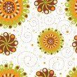 Cute floral seamless background — Foto de Stock