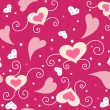 Cute valentine seamless background - Zdjcie stockowe