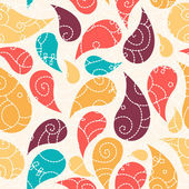 Cute paisley seamless background — Stock Photo