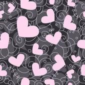 Bezszwowe tło valentine ładny — Zdjęcie stockowe