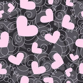 Cute valentine seamless background — Stock Photo