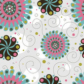 Cute floral seamless background — Stock Photo