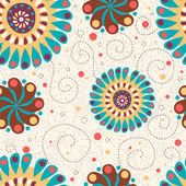 Cute floral seamless background — Стоковое фото