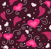 Cute valentine seamless background — Stock Photo