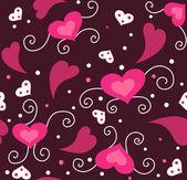 Söta valentine sömlös bakgrund — Stockfoto
