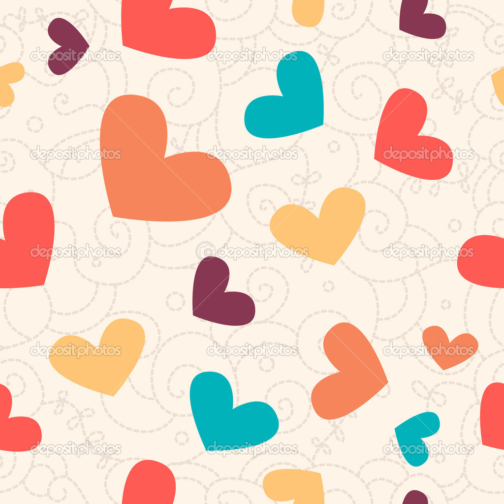 Cute valentine seamless background for your design — Zdjęcie stockowe #1689460