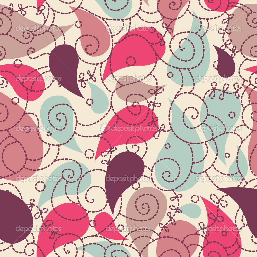 Cute paisley seamless background for your design — Stock Photo #1689488