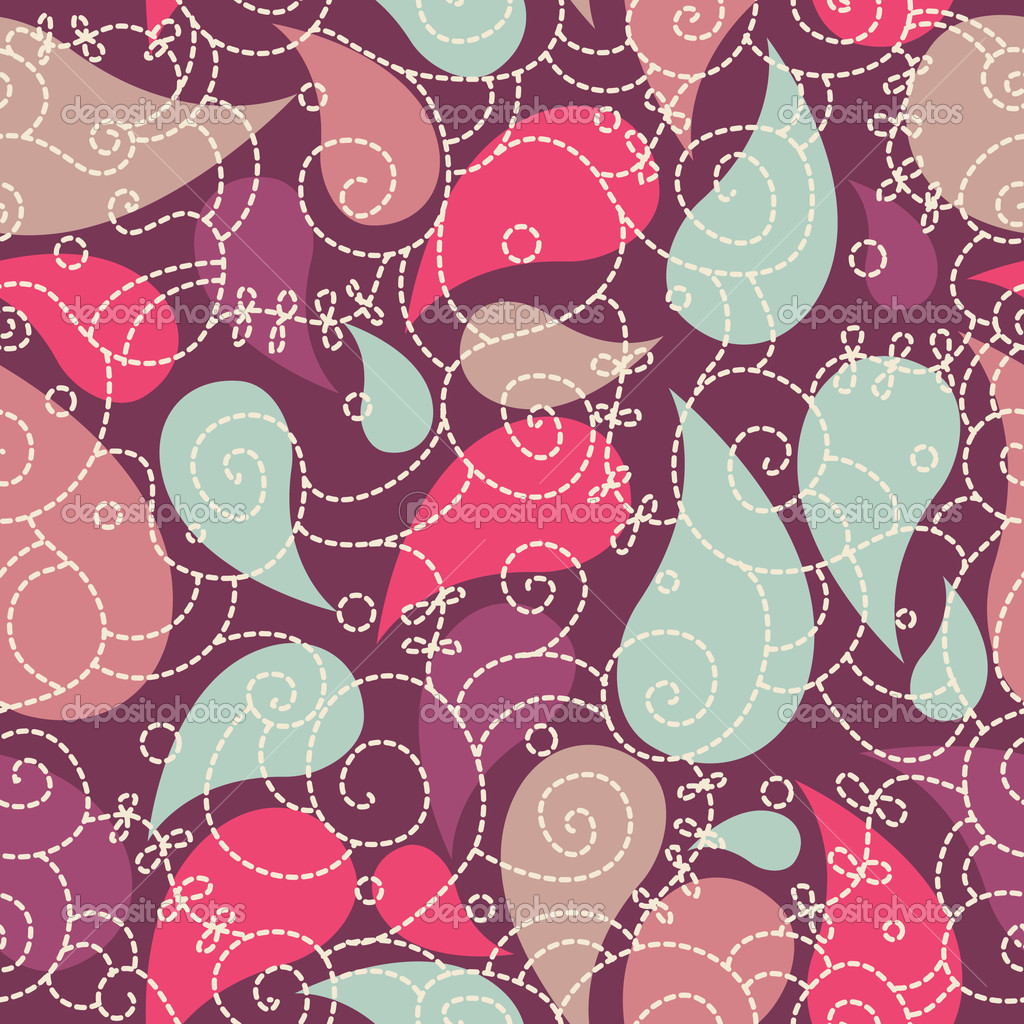 Cute paisley seamless background for your design  Stock Photo #1689516